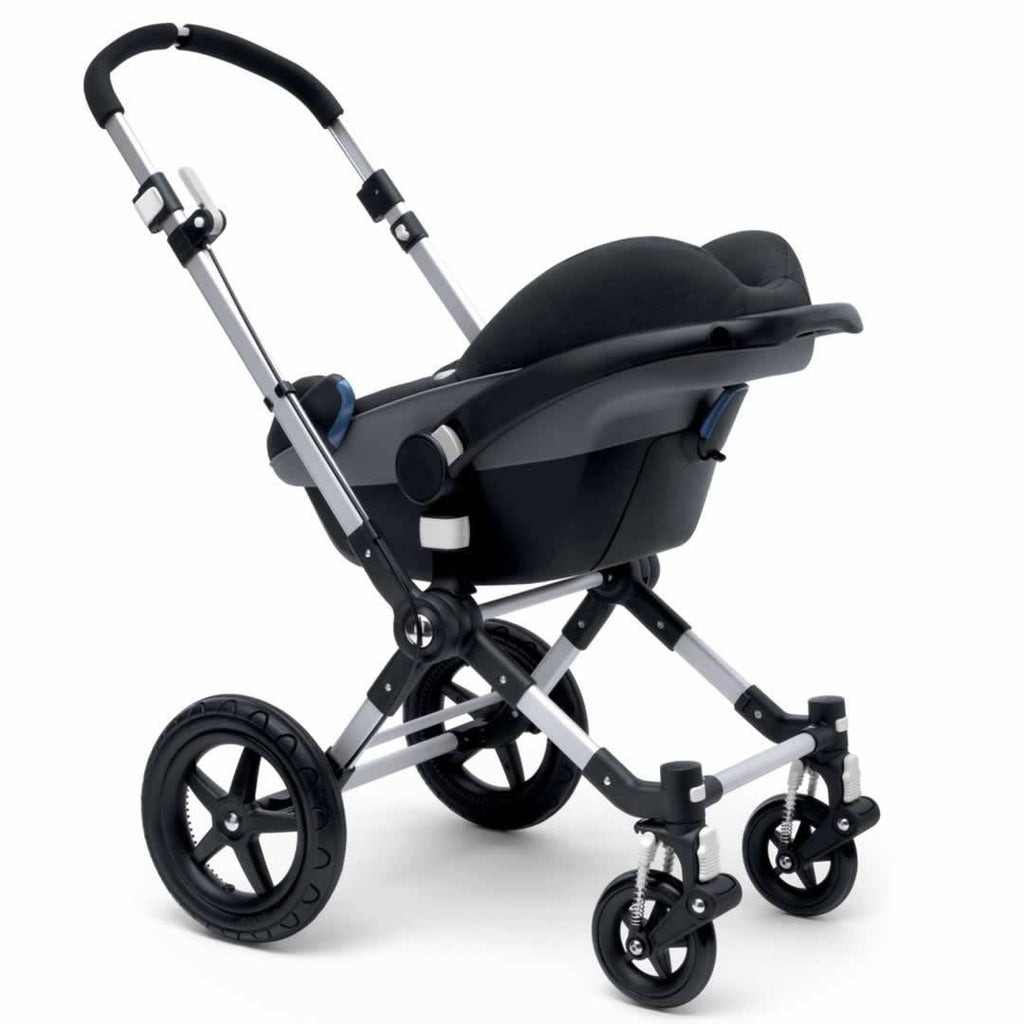 Bugaboo Cameleon3 Carrycot Aluminium + Dark Grey + Orange Car Seat