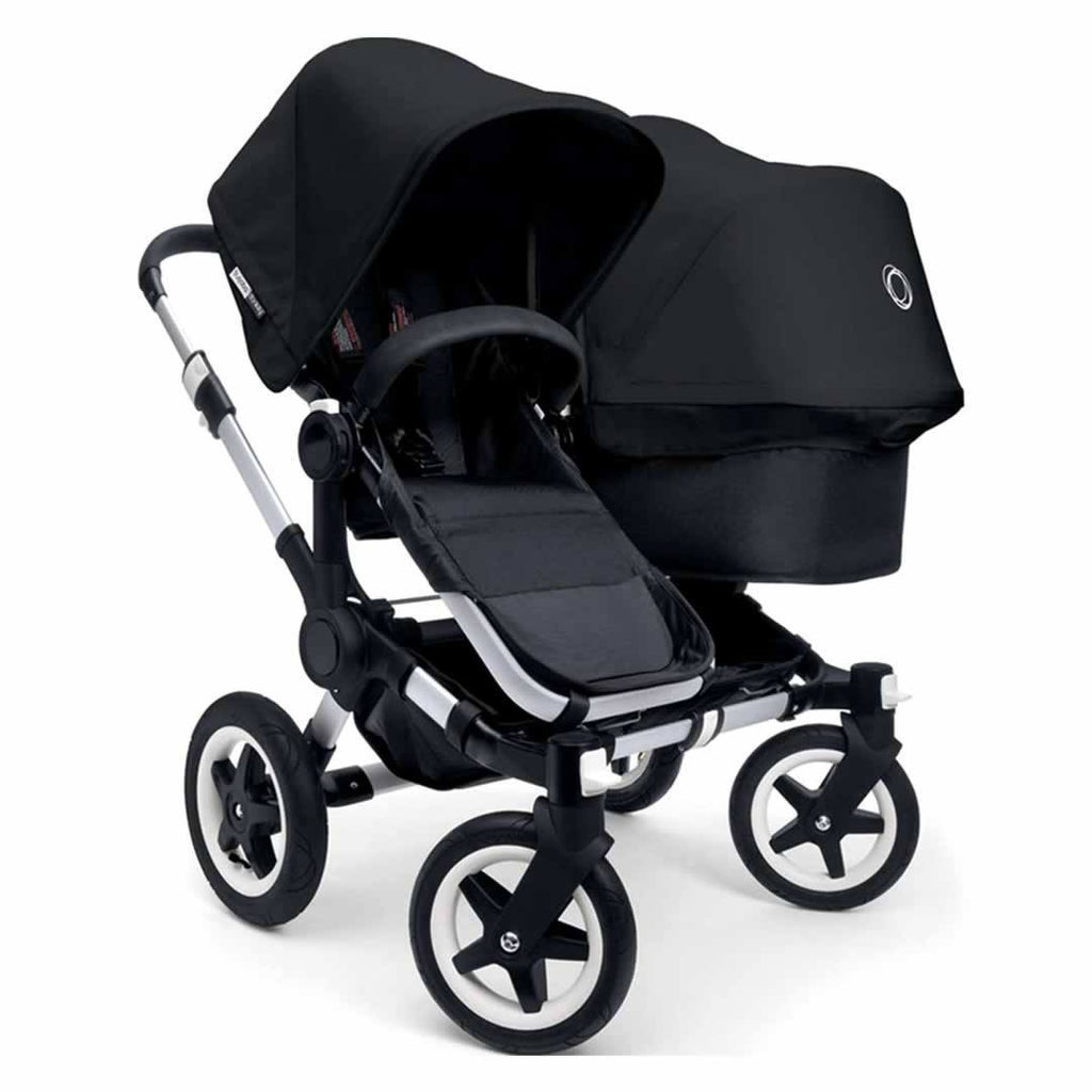 Bugaboo Donkey+ Duo Pushchair in Aluminium with Black