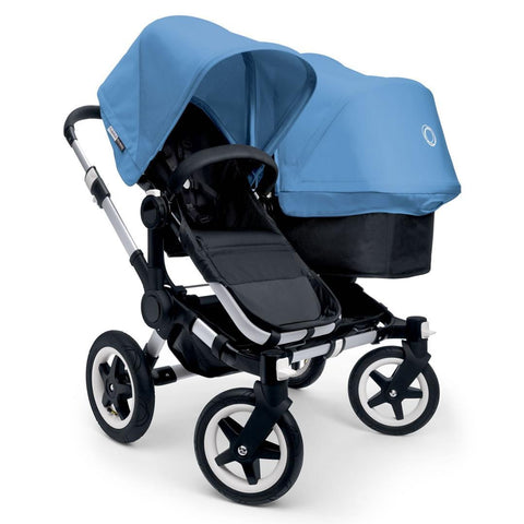 Bugaboo Donkey+ Duo Pushchair - Aluminium with Ice Blue - Strollers - Natural Baby Shower