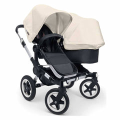 Bugaboo Donkey+ Duo Pushchair in Aluminium with Off White