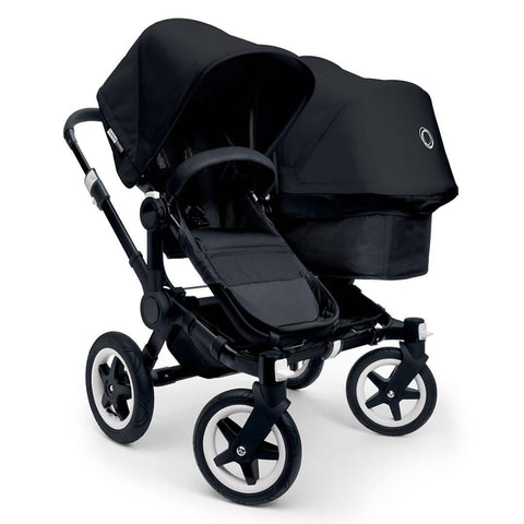 Bugaboo Donkey+ Duo Pushchair - Black with Black - Strollers - Natural Baby Shower