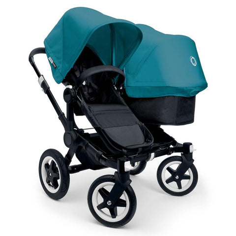 Bugaboo Donkey+ Duo Pushchair - Black with Petrol Blue - Strollers - Natural Baby Shower