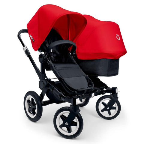 Bugaboo Donkey+ Duo Pushchair - Black with Red - Strollers - Natural Baby Shower