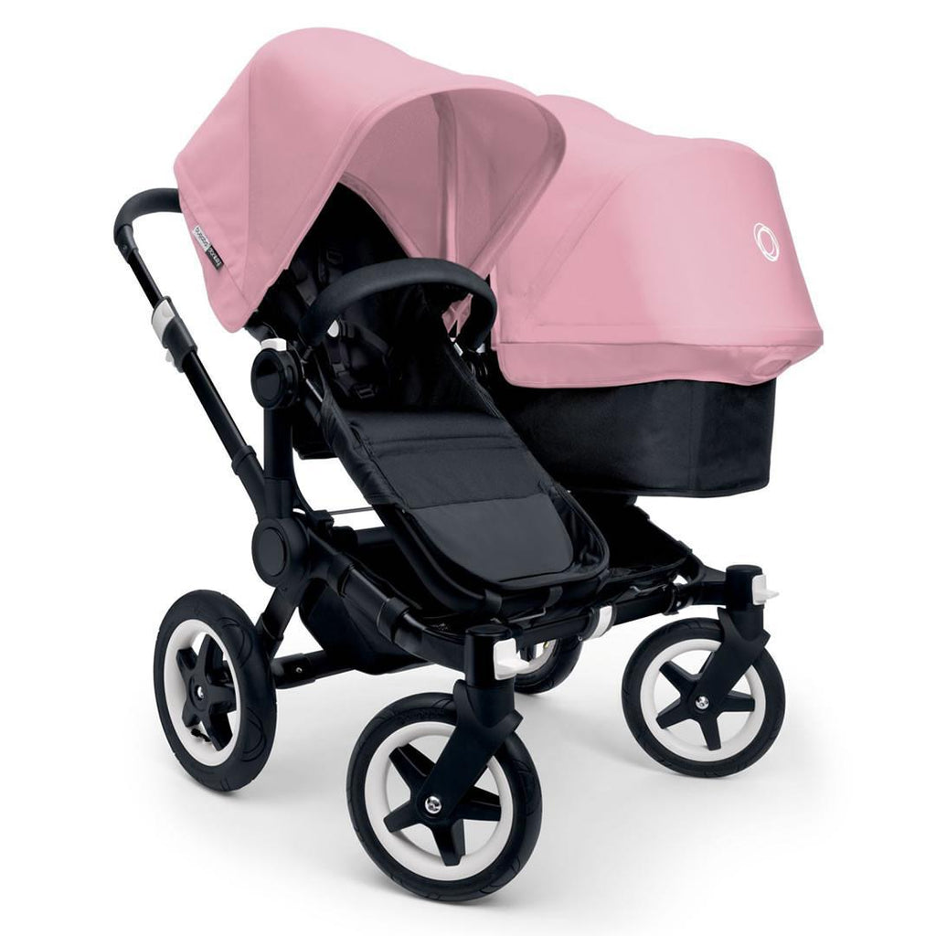 Bugaboo Donkey+ Duo Pushchair - Black with Soft Pink - Strollers - Natural Baby Shower