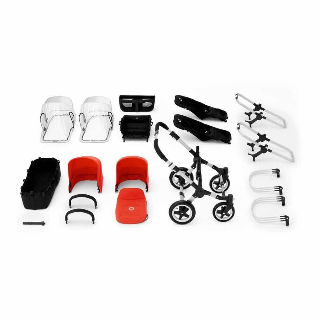 Bugaboo Donkey+ Duo Pushchair Black with Off White What you Get