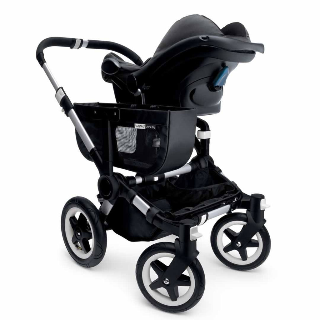 Bugaboo Donkey+ Mono Pushchair in Black with Aluminium with Car Seat