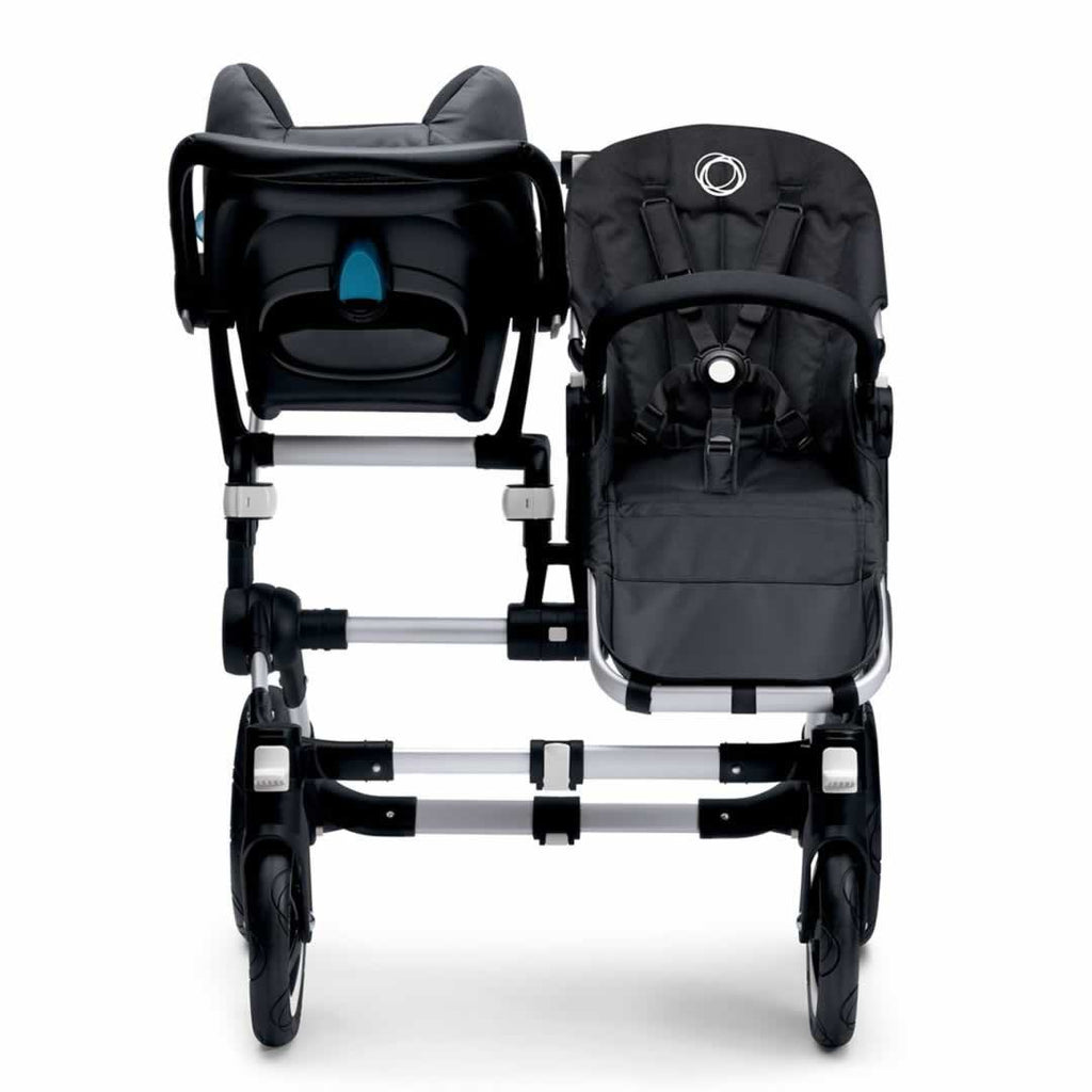 Bugaboo Donkey+ Duo Pushchair Black with Petrol Blue Car Seat