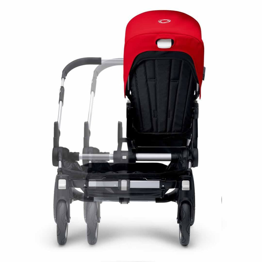 Bugaboo Donkey+ Mono Pushchair Aluminium with Grey Melange Front Extending