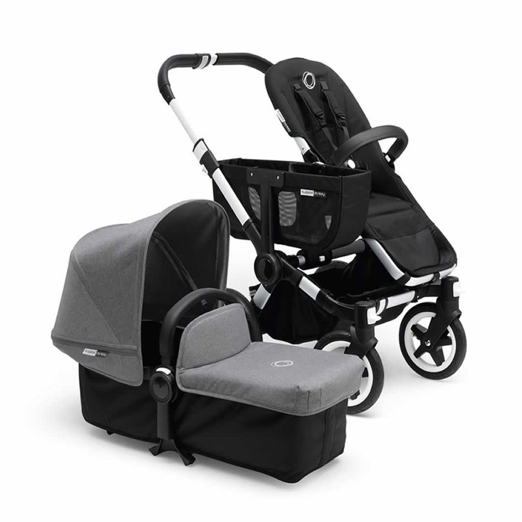 Bugaboo Donkey+ Mono Pushchair in Aluminium with Grey Melange