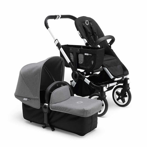 Bugaboo Donkey+ Mono Pushchair - Aluminium with Grey Melange - Strollers - Natural Baby Shower