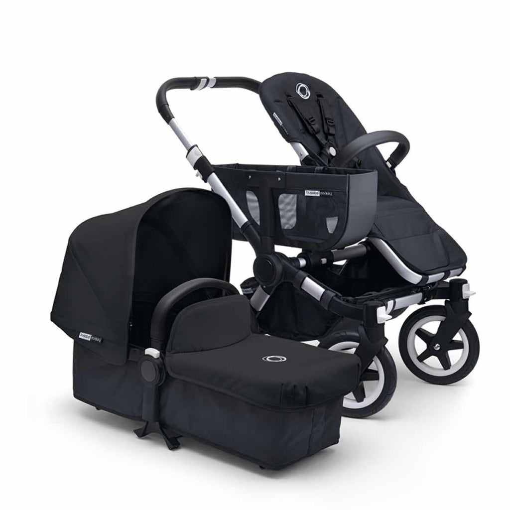 Bugaboo Donkey+ Mono Pushchair in Black with Aluminium