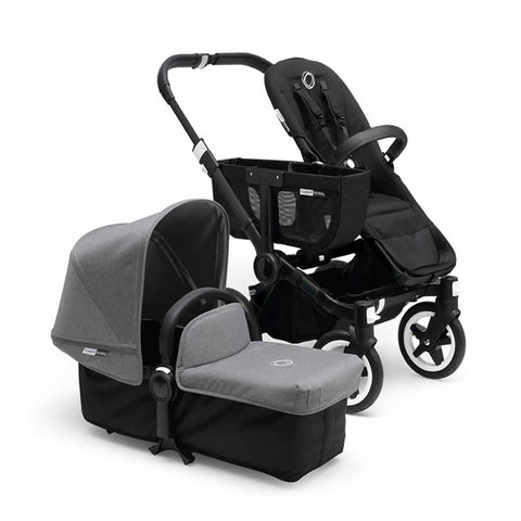 Bugaboo Donkey+ Mono Pushchair - Black with Grey Melange - Strollers - Natural Baby Shower
