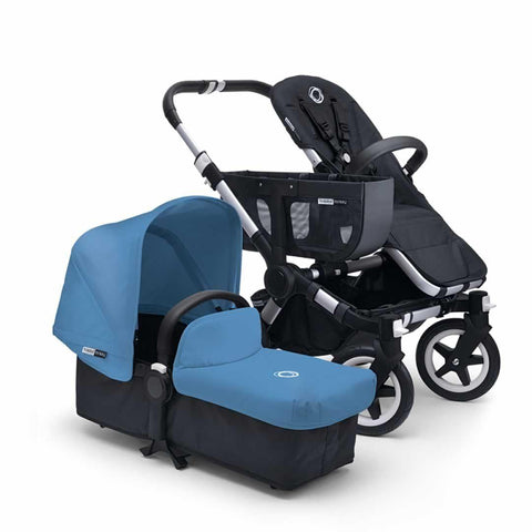 Bugaboo Donkey+ Mono Pushchair - Aluminium with Ice Blue - Strollers - Natural Baby Shower