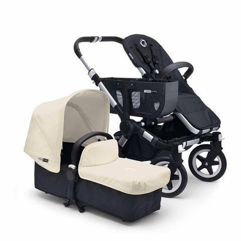 Bugaboo Donkey+ Mono Pushchair - Aluminium with Off White - Strollers - Natural Baby Shower