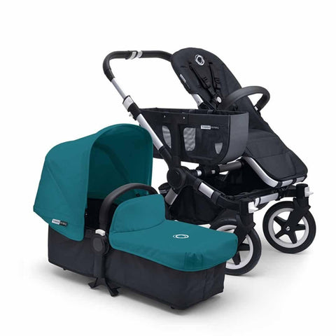 Bugaboo Donkey+ Mono Pushchair - Aluminium with Petrol Blue - Strollers - Natural Baby Shower