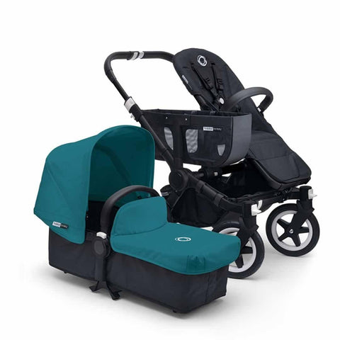 Bugaboo Donkey+ Mono Pushchair - Black with Petrol Blue - Strollers - Natural Baby Shower