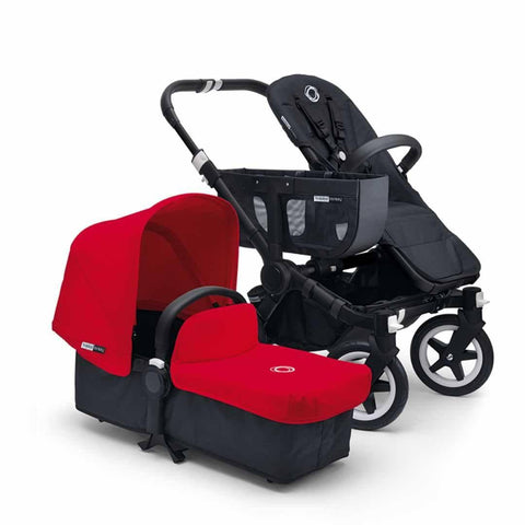 Bugaboo Donkey+ Mono Pushchair - Black with Red - Strollers - Natural Baby Shower