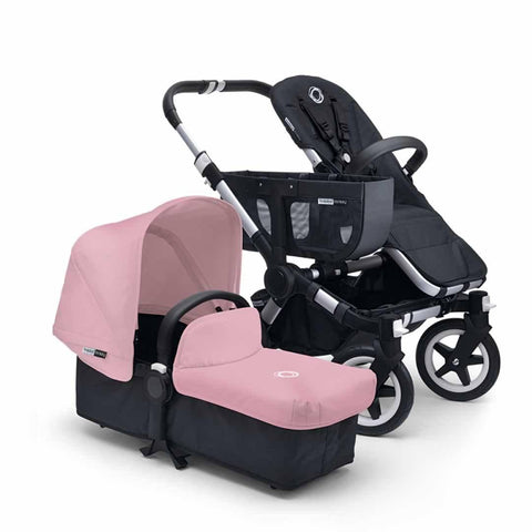 Bugaboo Donkey+ Mono Pushchair - Aluminium with Soft Pink - Strollers - Natural Baby Shower