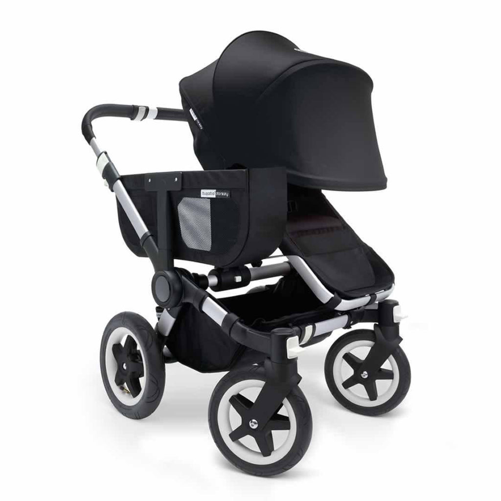 Bugaboo Donkey+ Mono Pushchair - Black with Aluminium Front