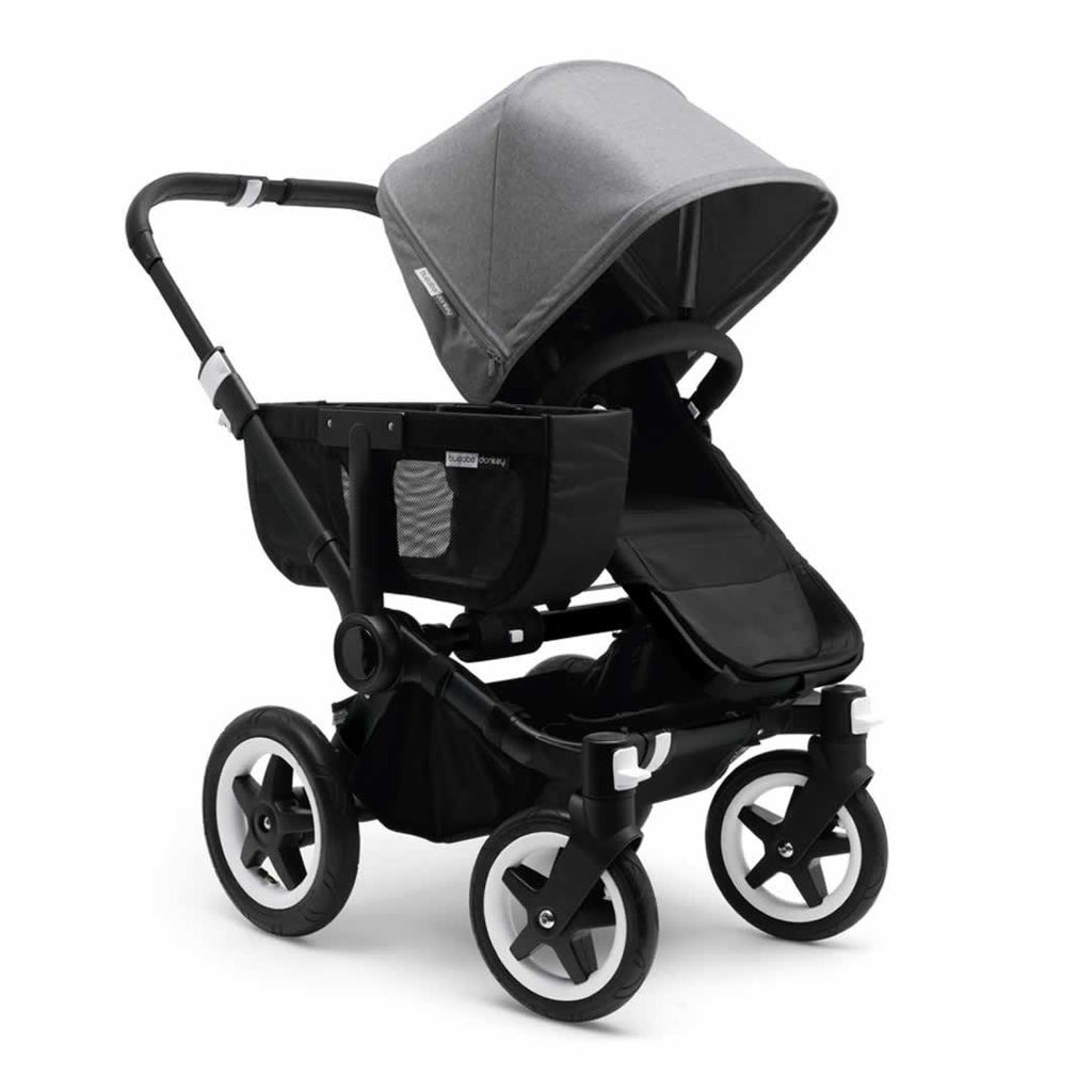 Bugaboo Donkey+ Mono Pushchair - Black with Grey Melange front