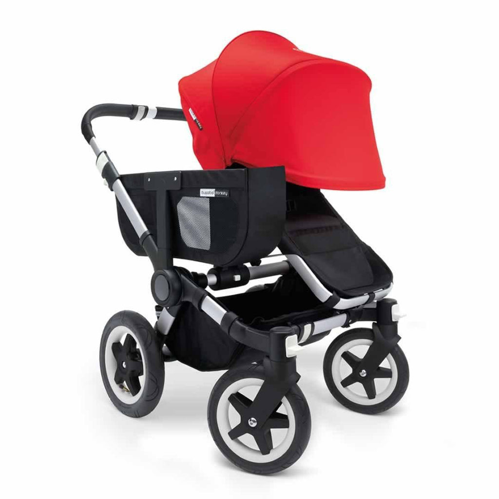 Bugaboo Donkey+ Mono Pushchair - Red with Aluminium Front