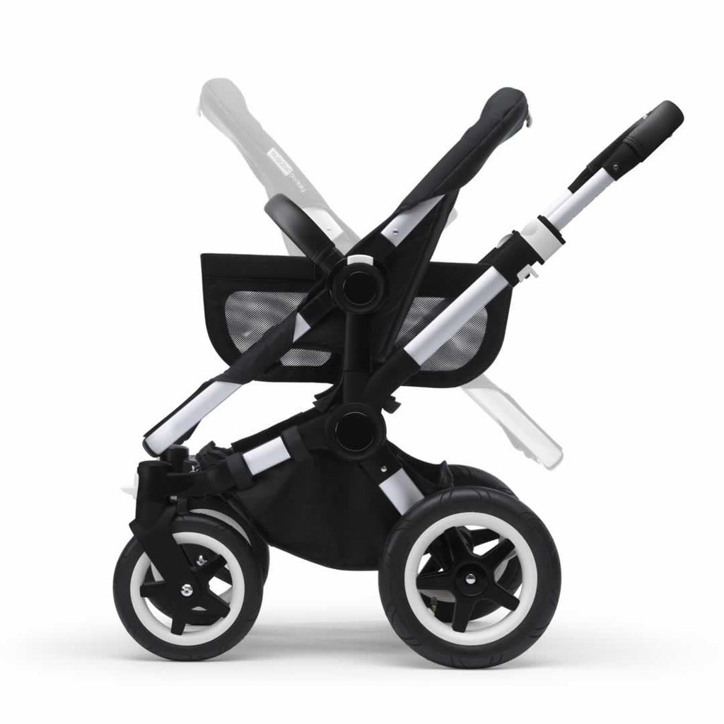 Bugaboo Donkey+ Mono Pushchair - Aluminium with Grey Melange Side