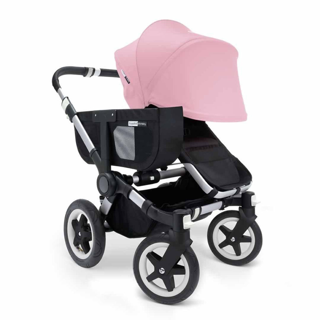 Bugaboo Donkey+ Mono Pushchair - Soft Pink with Aluminium Front
