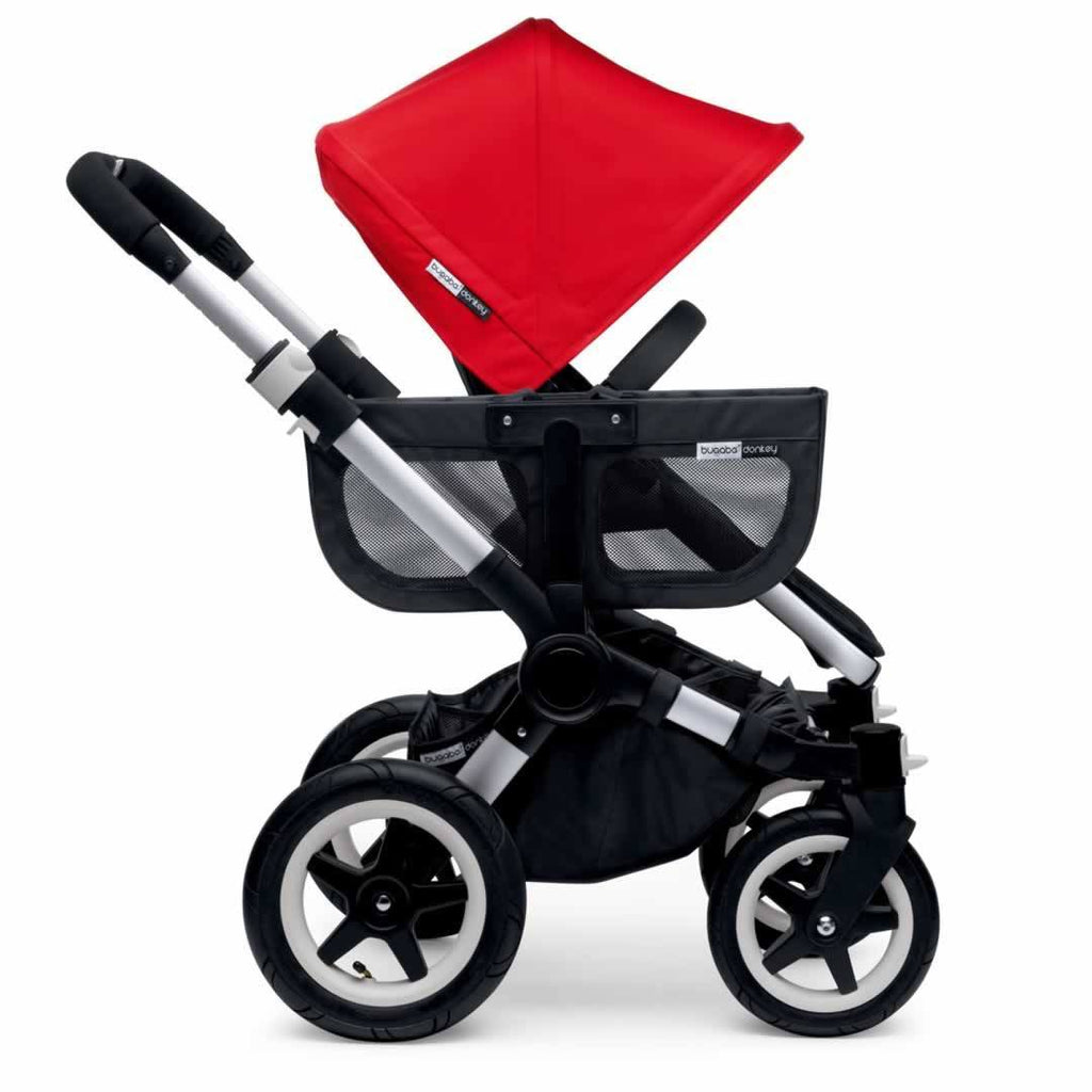 Bugaboo Donkey+ Mono Pushchair Red with Aluminium Side