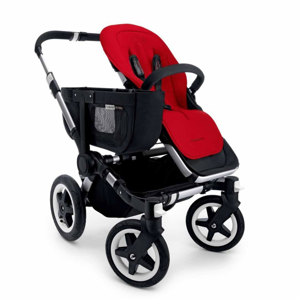 Bugaboo Donkey+ Mono Pushchair Aluminium with Grey Melange Seat