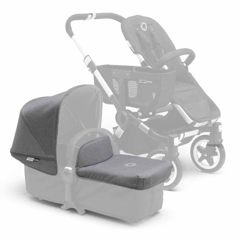 Bugaboo Donkey Tailored Fabric Set - Grey Melange - Colour Packs - Natural Baby Shower