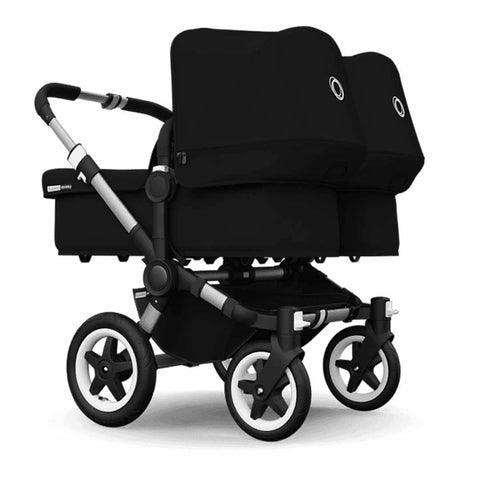 Bugaboo Donkey+ Twin Pushchair in Aluminium with Black