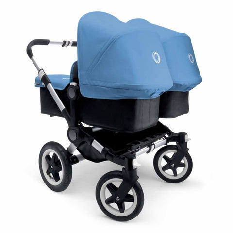 Bugaboo Donkey+ Twin Pushchair - Aluminium with Ice Blue - Strollers - Natural Baby Shower