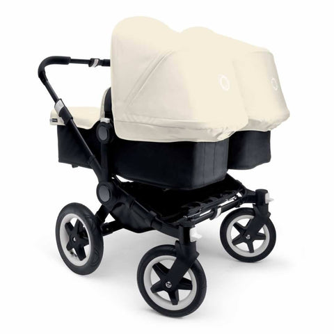 Bugaboo Donkey+ Twin Pushchair - Black with Off White - Strollers - Natural Baby Shower