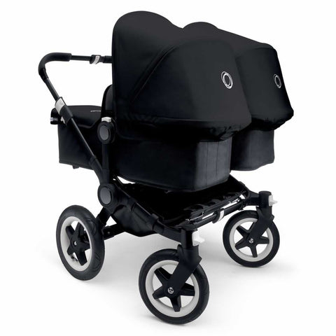 Bugaboo Donkey+ Twin Pushchair - Black with Black - Strollers - Natural Baby Shower