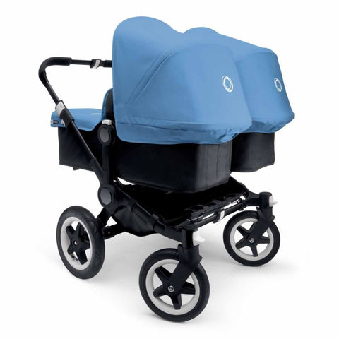 Bugaboo Donkey+ Twin Pushchair - Black with Ice Blue - Strollers - Natural Baby Shower