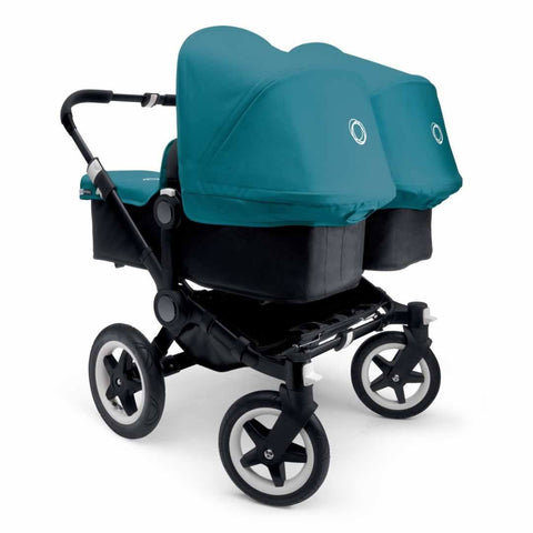 Bugaboo Donkey+ Twin Pushchair - Black with Petrol Blue - Strollers - Natural Baby Shower