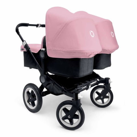 Bugaboo Donkey+ Twin Pushchair - Black with Soft Pink - Strollers - Natural Baby Shower