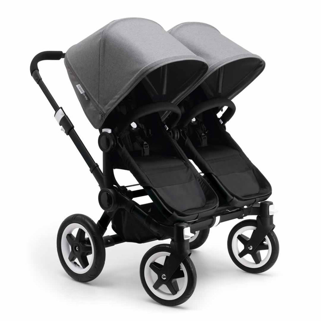 Bugaboo Donkey+ Twin Pushchair in Black with Grey Melange