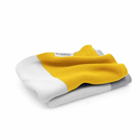 Bugaboo Light Cotton Blanket - Bright Yellow Multi - Blankets - Natural Baby Shower