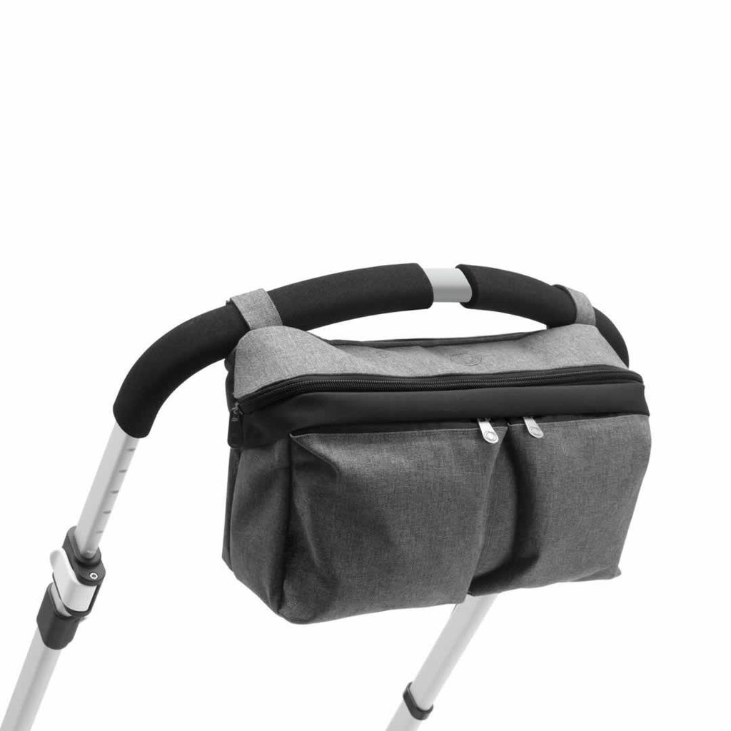 Bugaboo Organizer - Grey Melange on pushchair