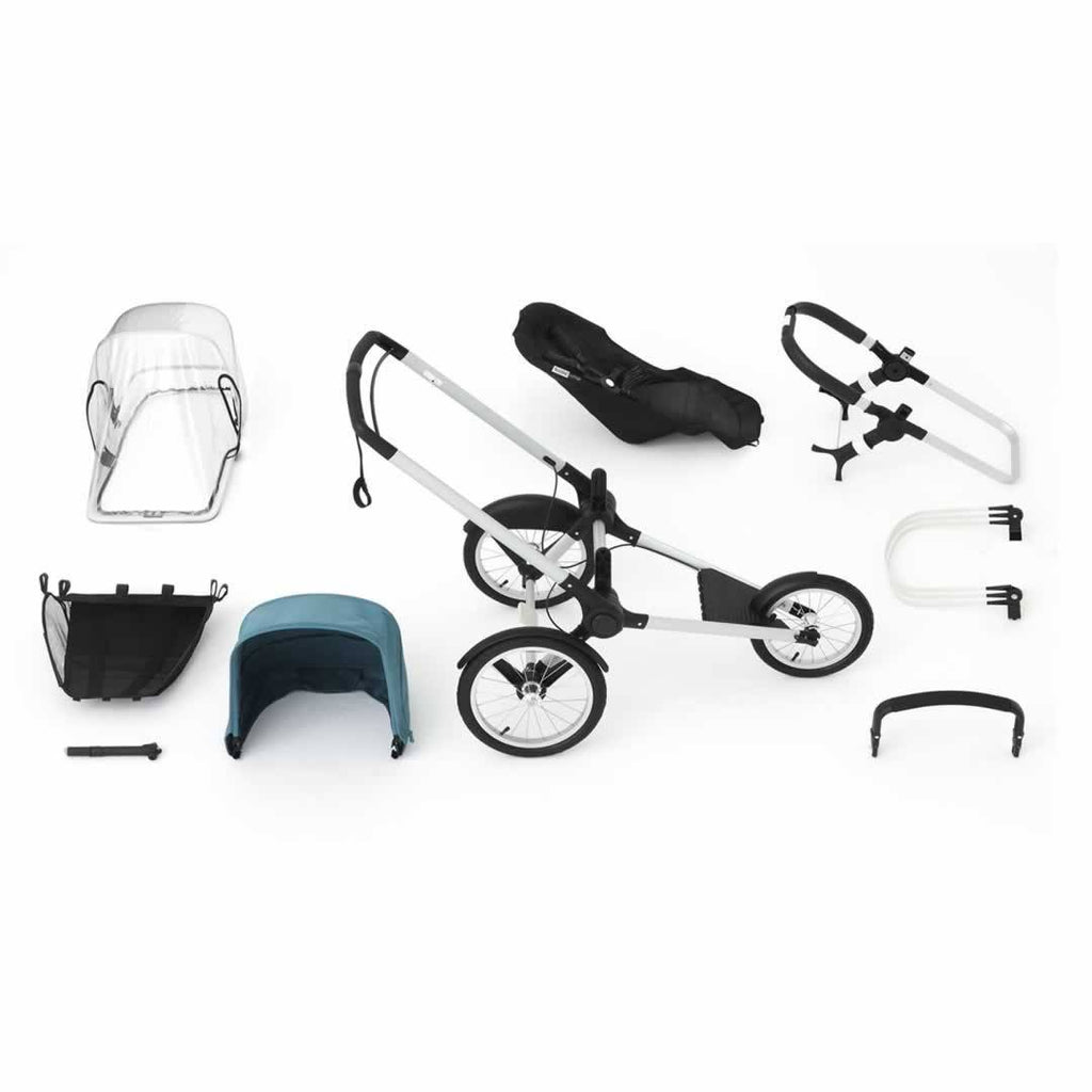 Bugaboo Runner Pushchair Petrol Blue & Aluminium What You Get