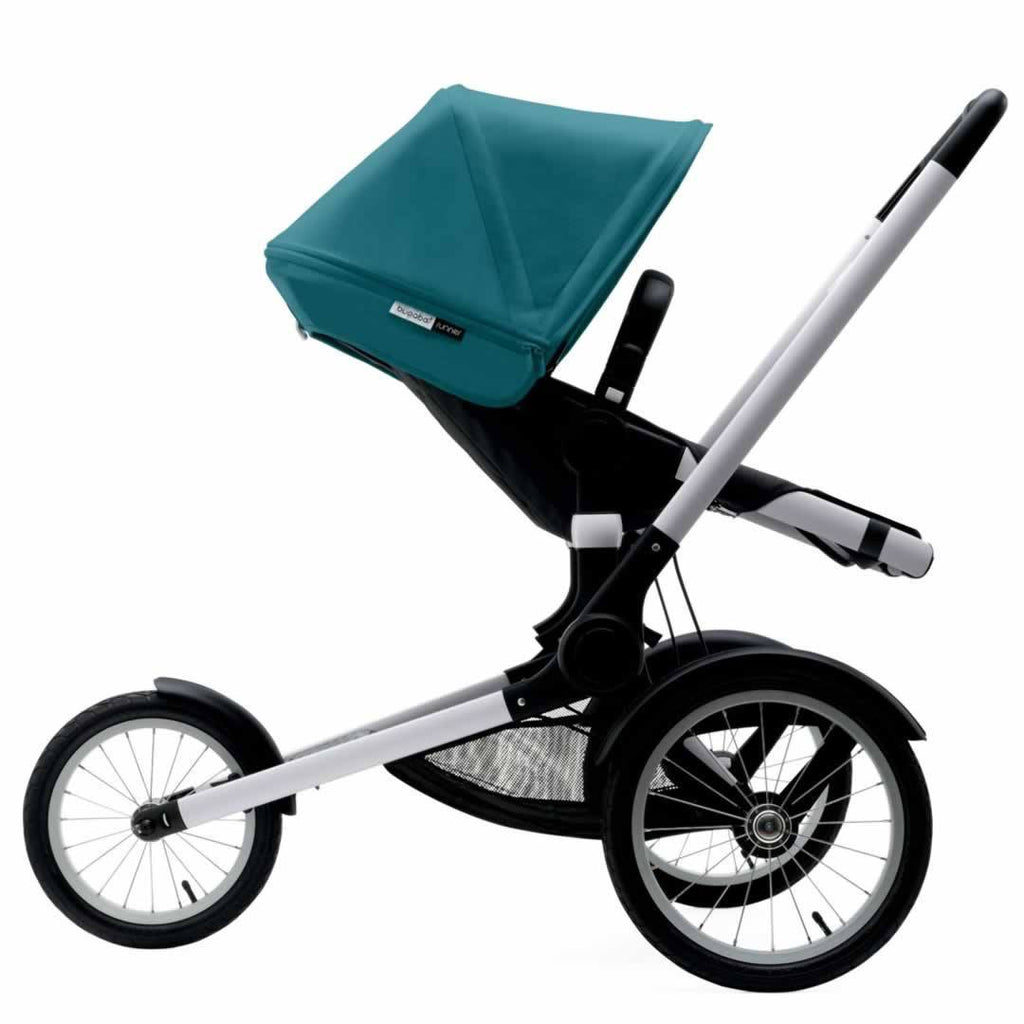 Bugaboo Runner Pushchair in Petrol Blue & Aluminium Side