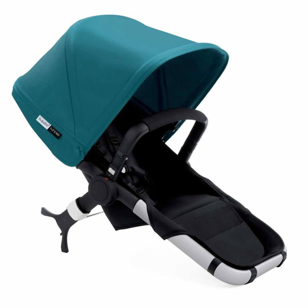 Bugaboo Runner Pushchair Petrol Blue & Aluminium Carrycot