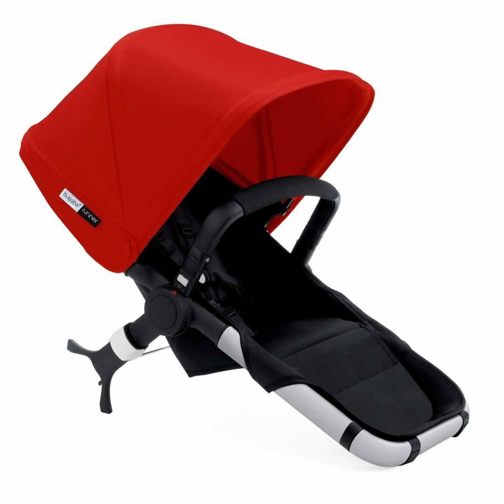 Bugaboo Runner Pushchair Red & Aluminium Carrycot