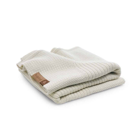 Bugaboo Soft Wool Blanket - Off White Melange-Blankets- Natural Baby Shower