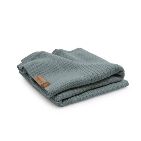 Bugaboo Soft Wool Blanket - Petrol Blue Melange-Blankets- Natural Baby Shower