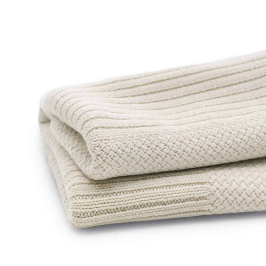 Bugaboo Soft Wool Blanket in Off White Melange
