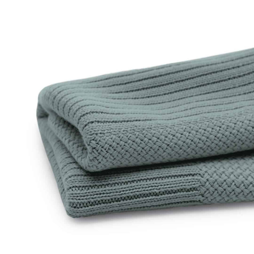 Bugaboo Soft Wool Blanket - Petrol Blue Melange - Blankets - Natural Baby Shower