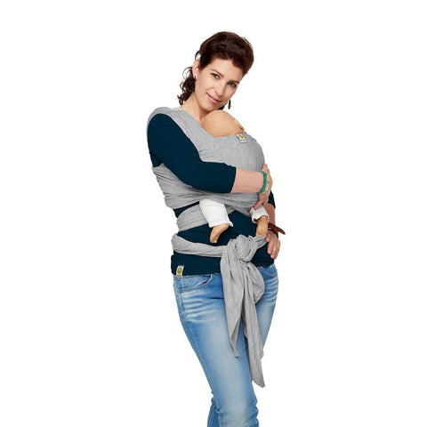 ByKay Classic Stretchy Wrap - Grey Melee-Baby Carriers- Natural Baby Shower