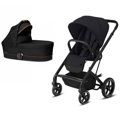 CYBEX Balios S Lux Pushchair + Cot - Deep Black + Lavastone Black-Strollers- Natural Baby Shower
